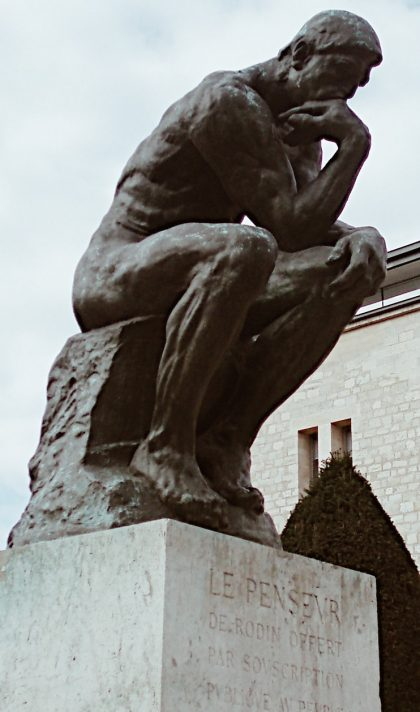 Rodin's famous sculpture, 'The Thinker'